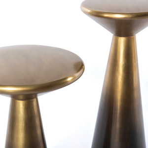 Cameron Accent Tables, Set of 2- Brass