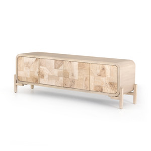 Wiley Media Console - Bleached Burl