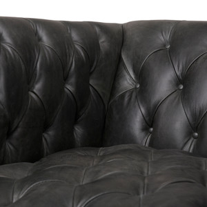 Devon Leather Chair - NW Ebony