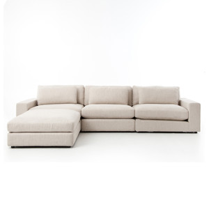 Bradley Sofa W Ottoman Kit-essence Natural