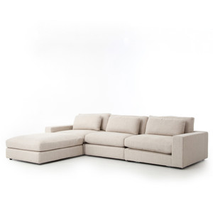 Bloor Sofa W Ottoman Kit-essence Natural