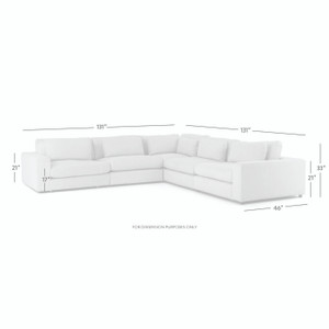 Bloor 5 Piece Sectional - Essence Natural