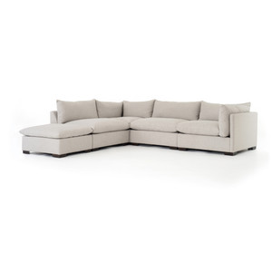 Zoe 4 - PC Sectional W/ Ottoman - Bm