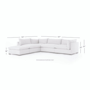 Westwood 4 - PC Sectional W/ Ottoman - Bm