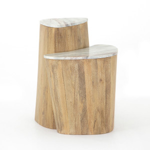 Dou Nesting End Table - Sun Washed Mango