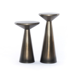 Cape Accent Tables, Set Of 2 - Pewter