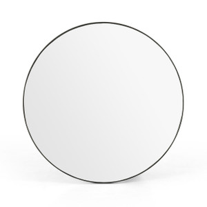 Bellvue Round Mirror - Rustic Black