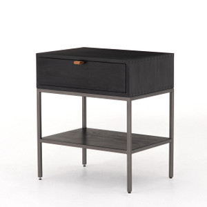 Cole Nightstand - Black Wash Poplar