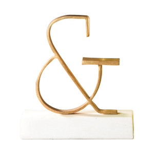 Ampersand Symbol Decor Gold or Silver