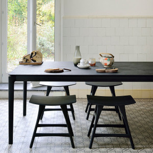 Black Oak Bok Dining Table - Varies Sizes