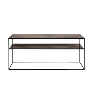 Bronze Copper Sofa Console - 2 Shelves