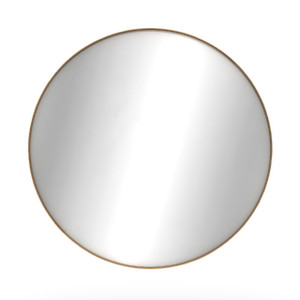 Oak Layers Wall Mirror - Round - Varnished