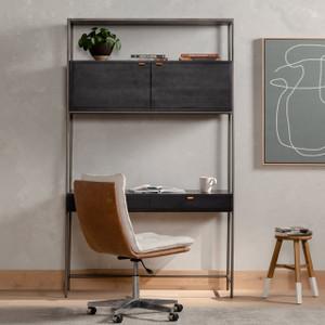 Tedeschi Modular Wall Desk - Black Wash Poplar