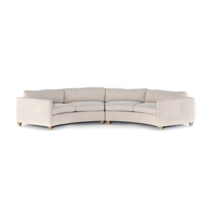Hillers 2-pc Sectional - Tacoma Ivory