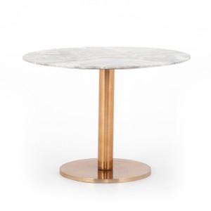 Nodene Dining Table - Polished Brass