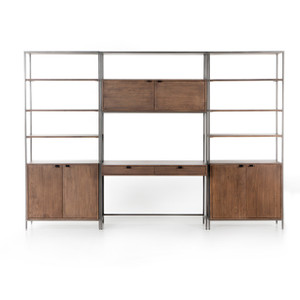 Wylde Modular Wall 2 Bookcase - Desk