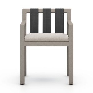 Oceanside  Outdoor Dining Armchair, Weathered Grey