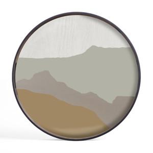 Sand Wabi Sabi glass tray