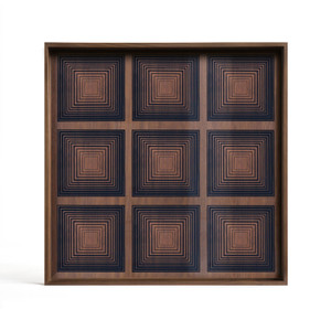 Ink Multi Squares glass tray