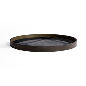 Ink Linear Squares glass tray