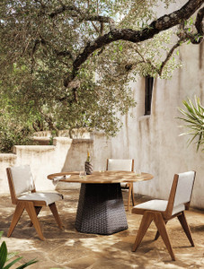 """Dinley Outdoor Dining Table-60"""" - Natural"""