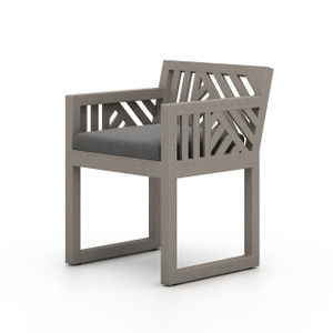 Alvey Outdoor Dining Arm Chair | Weathered Grey