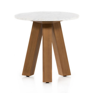 Sandy Marble Outdoor End Table
