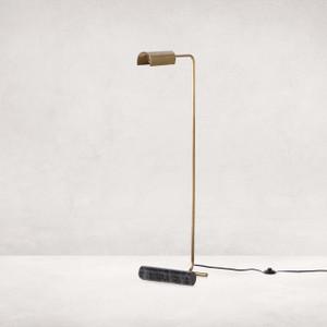 Dela Floor Lamp - Weathered Brass