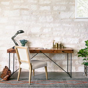 Kelby Dining Chair - Dark Linen