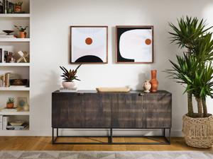 Bauer Sideboard - Carved Vintage Brown