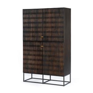 Bauer Cabinet - Carved Vintage Brown