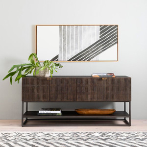 Bauer Small Media Console - Vintage Brown