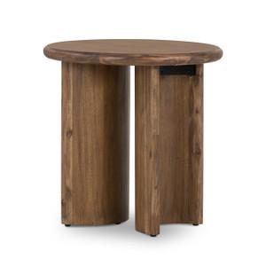 Gloder End Table - Seasoned Brown Acacia