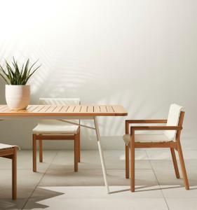 Keleigh Outdoor Eucalyptus  Dining Armchair