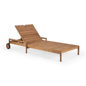 Teak Jack Outdoor Adjustable Lounger - Wooden Frame