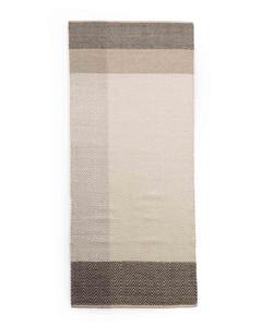 Color Block Chevron Rug-brown