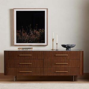 Flene 6 Drawer Dresser - Bluestone