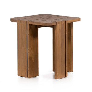 Culver Outdoor End Table - Natural Teak