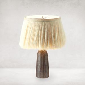 Sisa Table Lamp - Earthtone Striped Ceramc