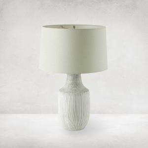 Ombak Table Lamp - Black&white Grid Ceramc