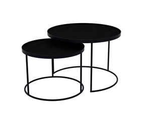 Notre Monde TGN-020726 Round Tray Tables - Set/Low