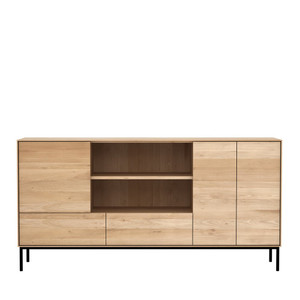 Whitebird Oak Open Shelf Sideboard Buffet