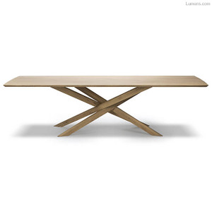 Oak Mikado Pedestal Rectangle Dining Table