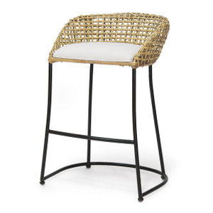 Rattan Weave Counter Barstool