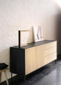Azura Black Sideboard 2 Doors, 3 Drawers