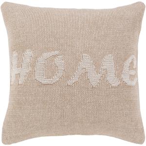 Home Knit Beige Pillow