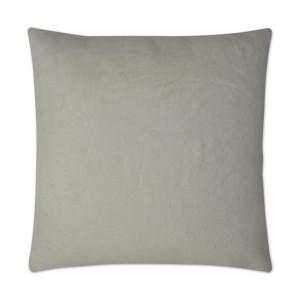 Swan Faux Fur Pillow - Steel