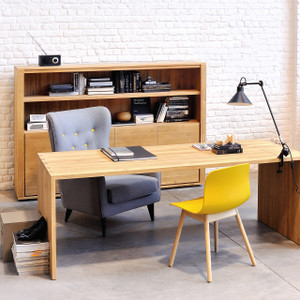 Light Oak U Office Desk