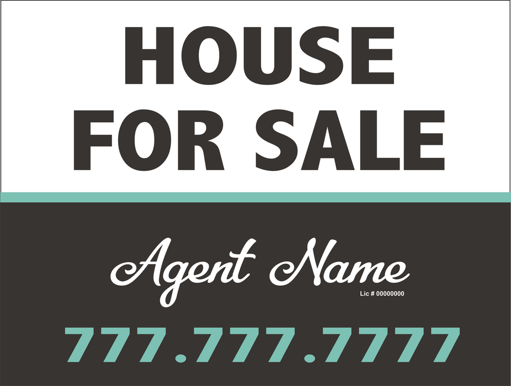 House For Sale Sign Split White Grey Waqua Bazua Signs Graphics