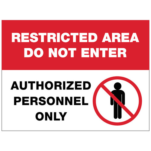 Restricted Area Sign - 24 x 18